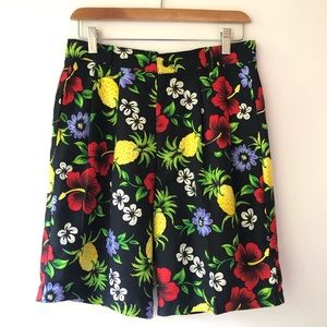 Vintage High Waisted Tropical Floral Shorts 32